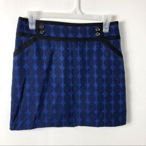 Forenza Navy Black Circle Print Mini Skirt 2